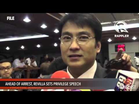 Ahead of arrest, Revilla sets privilege speech