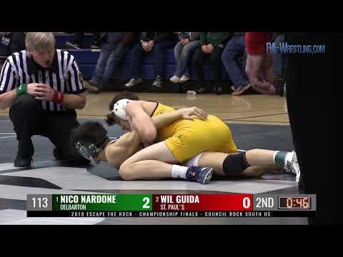 2019 ETR 113 final - Nico Nardone (Delbarton, NJ) vs Will Guida (St. Paul's School, MD) thumbnail