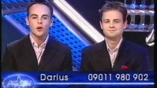 Pop Idol - Ant & Dec trying to embarrass each other, the contestants and Neil Fox