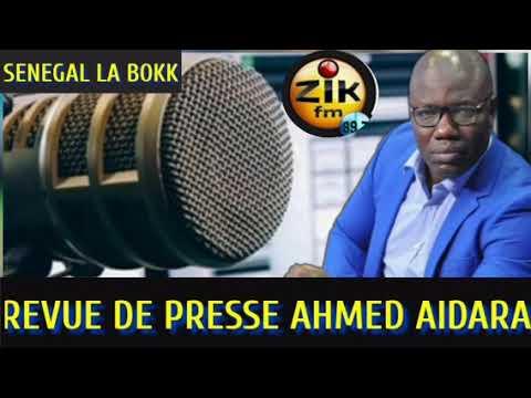 Revue de Presse (Wolof) de Zik Fm du Lundi 04 Octobre 2021 avec Ahmed Aidara