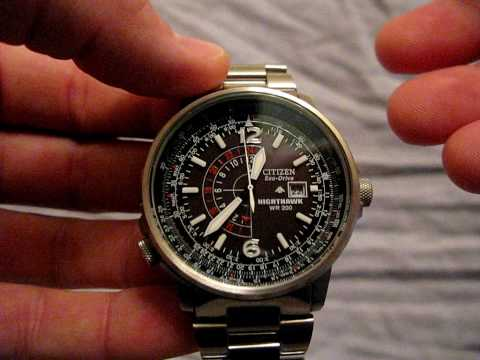 0cbbb8a1981 Citizen EcoDrive Nighthawk Video Review - YouTube