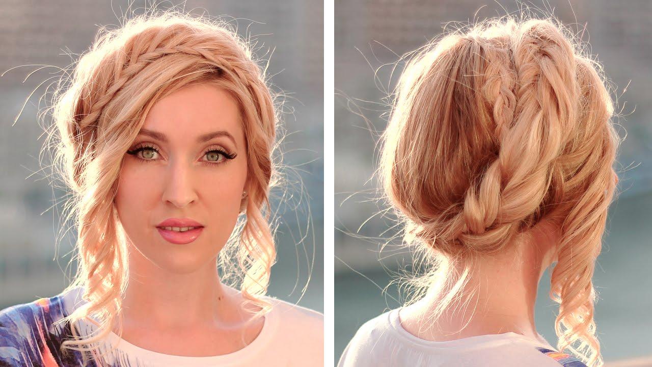 Halo/crown braid tutorial Milkmaid braids updo Hairstyle ...