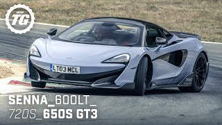 Chris Harris Drives... the Best of McLaren: Senna, 600LT, 720S, 650S GT3 | Top Gear