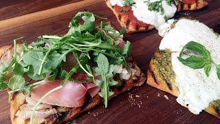 GRILLED FLATBREAD PIZZA THREE WAYS