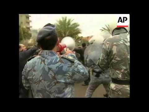 LEBANON: STUDENTS STAGE ANTI-US/ISRAELI PROTEST (3)