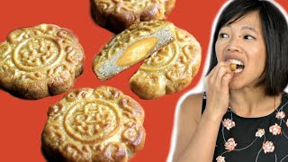 How to Make MOONCAKES With a Traditional Wooden Mold - Mid-Autumn Festival Recipe