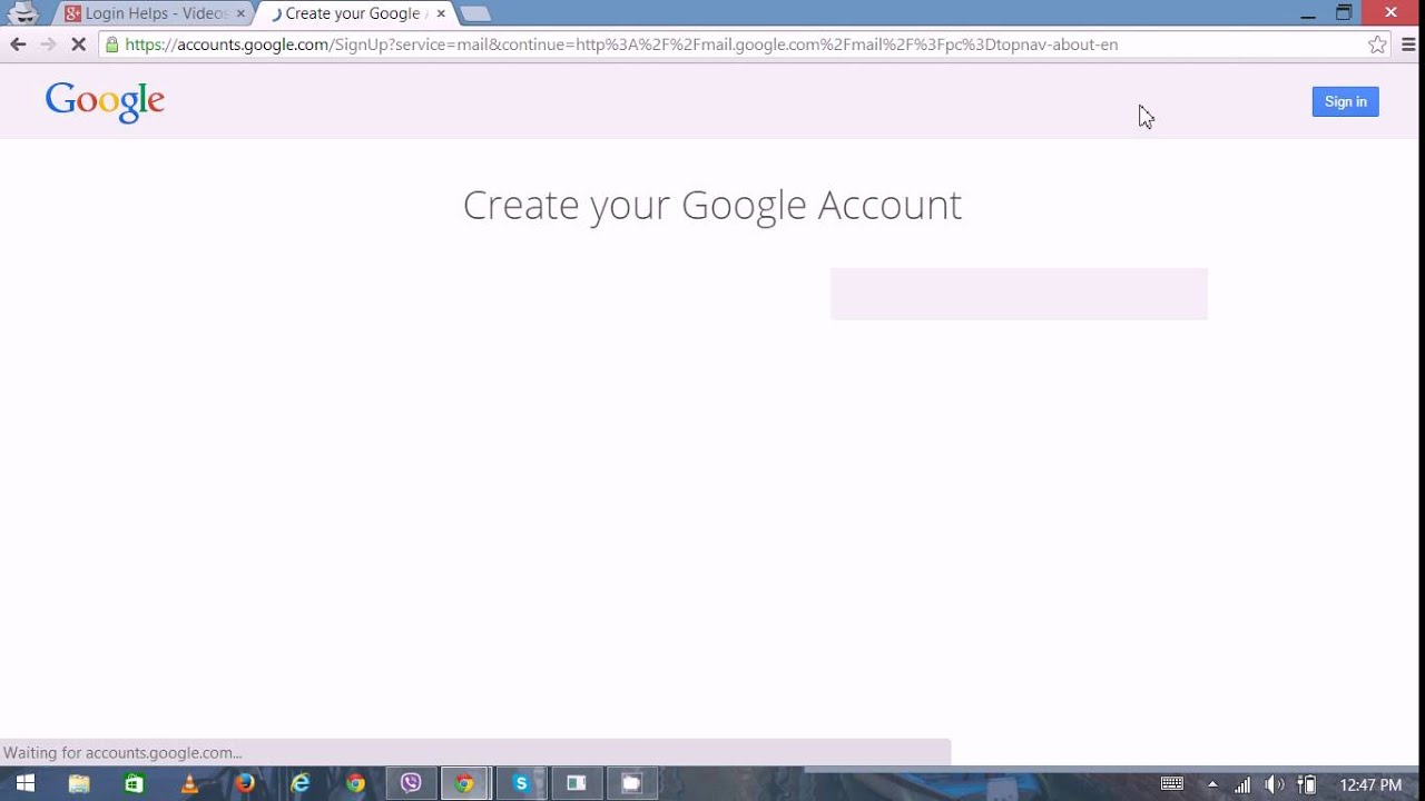 Gmail Login / Gmail Registration / Gmail Sign Up - Create Gmail Account