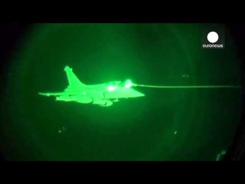 "Video: First night mission over Iraq for French Rafale military jets - ""Opération Chammal"""