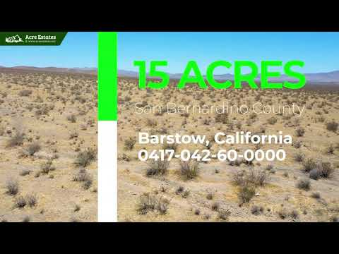 Secluded 15-Acre Parcel, Perfect for Outdoor Adventure in Barstow, CA!Secluded 15-Acre Parcel
