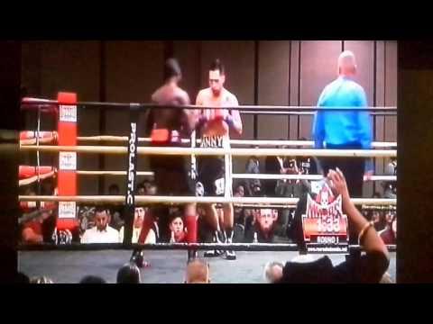 Samuel Antwi vs Daniel Fabela (Pro debut) 2015-01-23