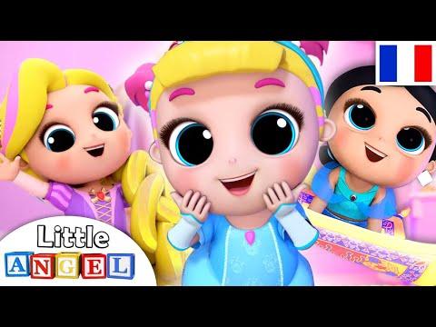 Les Petites Princesses - Elsa, Raiponce, Cendrillon   Comptines Little Angel Français