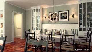 Анимация частного дома в английском стиле. Animation of a private house in the english style(Анимация дома в английском стиле. Нужно было показать дизайн интерьеров комнат и дом с ландшафтом. Animation..., 2014-05-11T12:43:06.000Z)