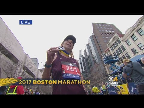 Kathrine Switzer Finishes Boston Marathon 50 Years After Being First Woman To Run