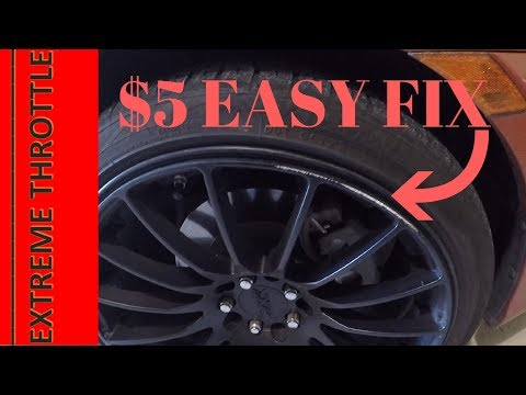 How to Fix a Curbed Rim for Only $5! Fast and easy solution