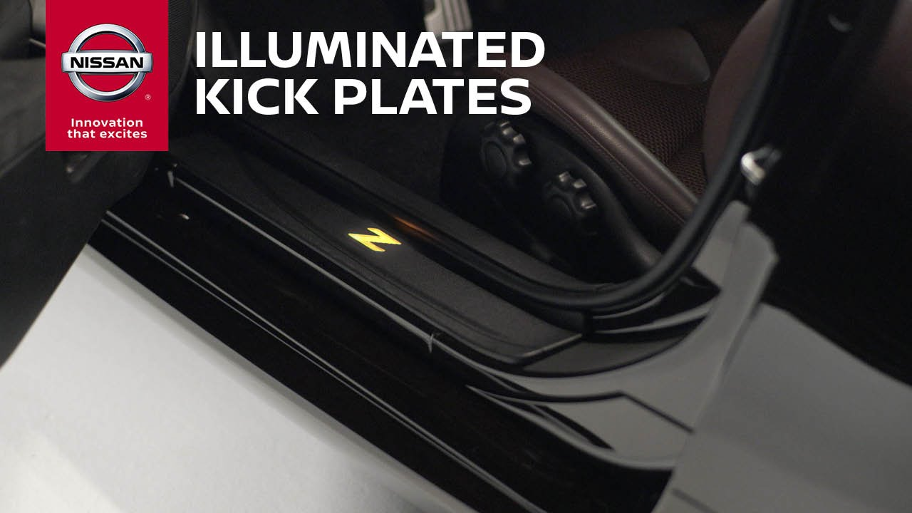 illuminated kick plates genuine nissan accessories youtube. Black Bedroom Furniture Sets. Home Design Ideas