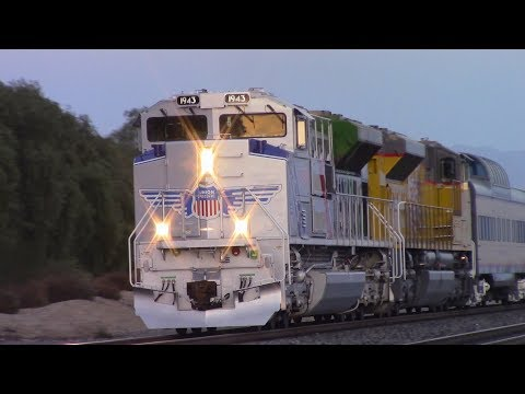 [HD] Railfaning on the Union Pacific Sunset Route Featuring UP 1943 - 11/18/17