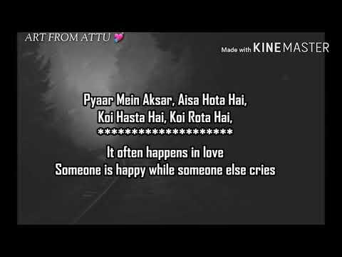 Pyaar Mein Aksar, Aisa Hota Hain In Hindi And English Nice Love Lyrces Song
