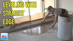 How To Concrete Leveling with Straight Edge MrYoucandoityourself