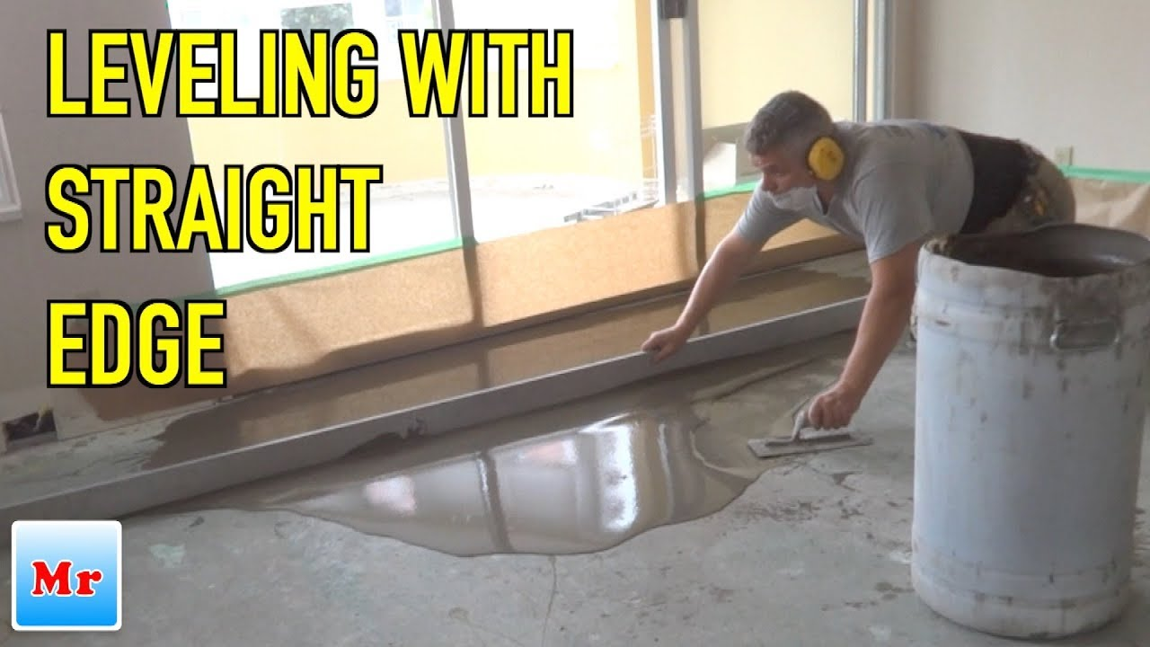 Concrete Leveling With Straight Edge