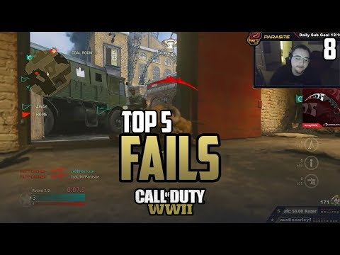 TURNED ON FOR THE LOSS! - COD WWII: TOP 5 PRO FAILS #8 - Call of Duty World War 2