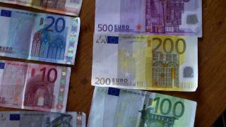 Euro money explained ; part 2 = Bank notes aka bankbiljetten