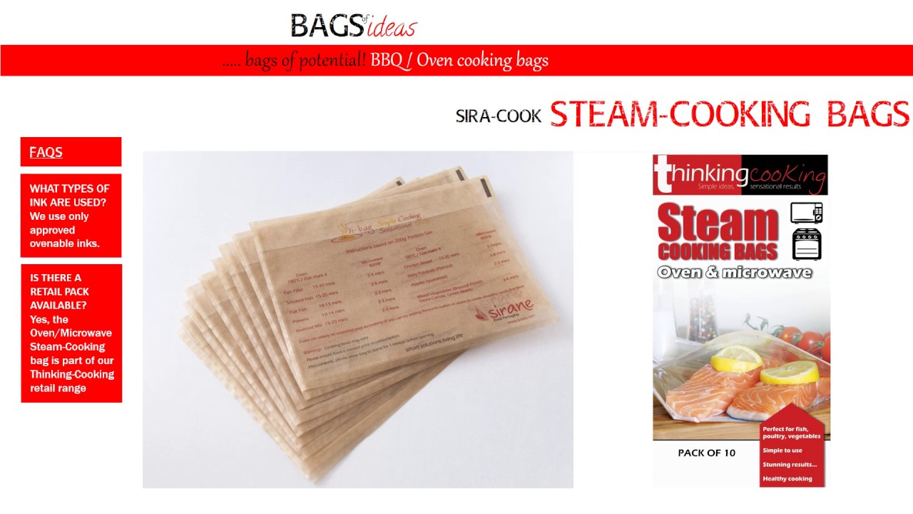 Steam Cooking Bag Solutions From Sirane Ltd