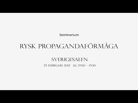 Seminarium: Rysk propagandaförmåga