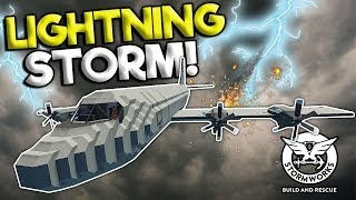 LIGHTNING STRIKE CAUSES PLANE CRASH! - Stormworks Multiplayer Gameplay - Plane Crash Survival