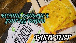 Beyond Breakfast Sausage  x Just Egg Folded Taste Test