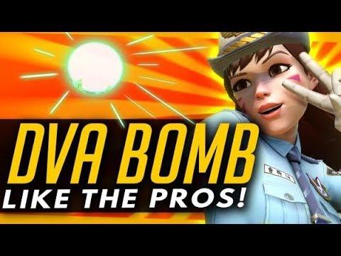 Overwatch | DVA BOMB Like A PRO - Advanced Guide + Ult Locations