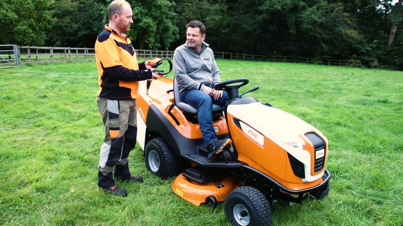 Transforming Chris Hollins Garden With A Stihl Ride On Mower Stihl Gb Youtube