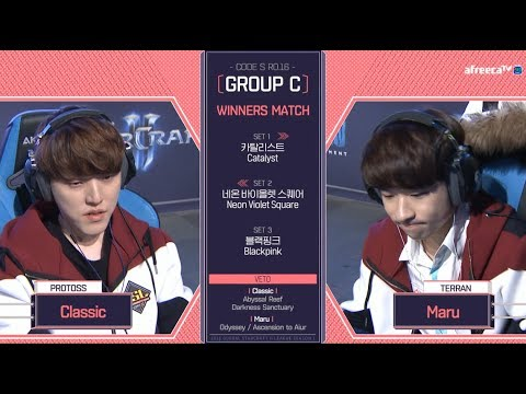 [2018 GSL Season 1]Code S Ro.16 Group C Match3 Classic vs Ma