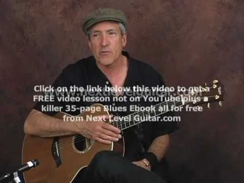 Acoustic fingerstyle country rhythm guitar lesson finger picked with bass notes EZ and fun