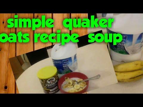 HOW TO MAKE QUAKER OATMEAL WITH FRESH MILK & BANANA..easy ...