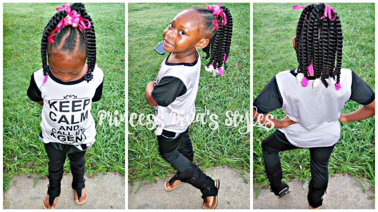 Kid Friendly Crochet Ponytail Slo Mo Braiding Children S Natural Hair Care Youtube