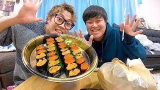 【早食い】1万円分の寿司を5分で食べきれ!!!