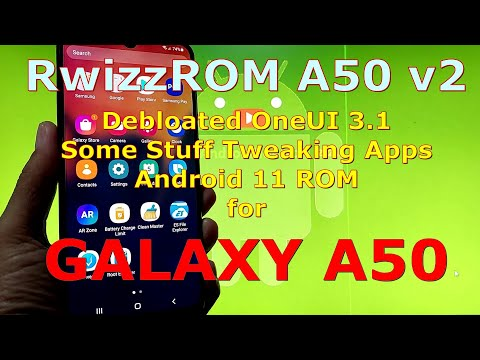 RwizzROM A50 v2 for Samsung Galaxy A50 Android 11 ( Debloated OneUI 3.1 ROM )