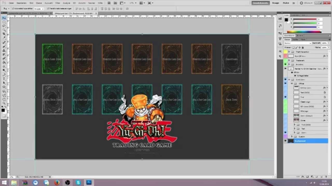 Einsteiger-Tutorial: Yu-Gi-Oh! Spielmatte mit Photoshop designen ...