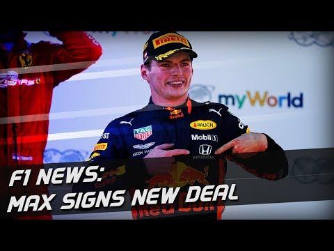 F1 News: Max Verstappen Extends Red Bull Deal