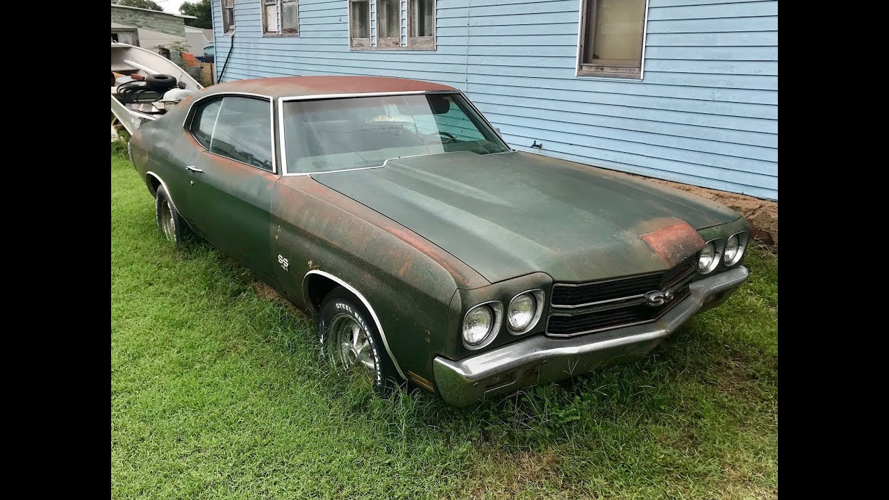 1970 Chevelle SS454 Found Parked Beside A House Over 30 Years In Oklahoma!!!