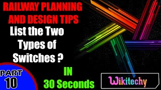 List the two types of switches | Railway Planning and Design Interview Questions