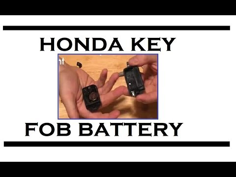 2015 Honda Odyssey Key Fob Battery Replacement Video - YouTube