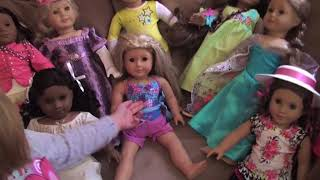American Girl Dolls Collection as of July 2014