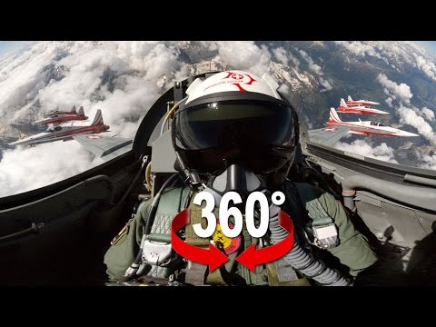 360° cockpit view | Fighter Jet | Patrouille Suisse | Virtua