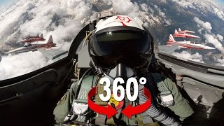360 cockpit view Fighter Jet Patrouille Suisse Virtual Reality