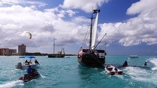 EPIC PIRATE WATER BATTLE IN ARUBA!!! Thumbnail
