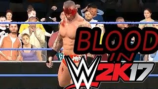 WWE2K17 PC : The Blood System | Extreme Blood | Blood From Various Body Parts