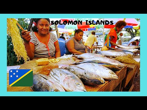 SOLOMON ISLANDS: the colourful FRUIT and FISH MARKET of the island of GHIZO