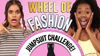 JUMPSUIT CHALLENGE?! Wheel of Fashion w/ Arianna Jonae & Erika Vianey