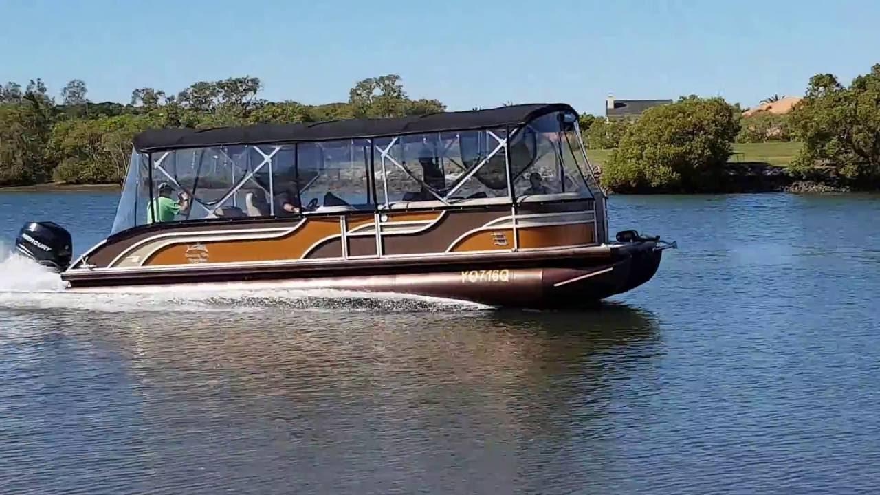 Runaway Bay Pontoon Boats 28ft Tri Hull With 300hp Mercury